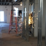 Sparks fly when you're building a new office!
